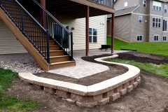 Brick-paver-patio-retaining-wall-Concrete-ExcellenceBurnsville-MN