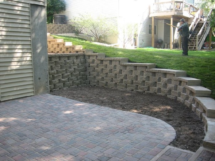 Concrete excellence built this retaining wall in savage
